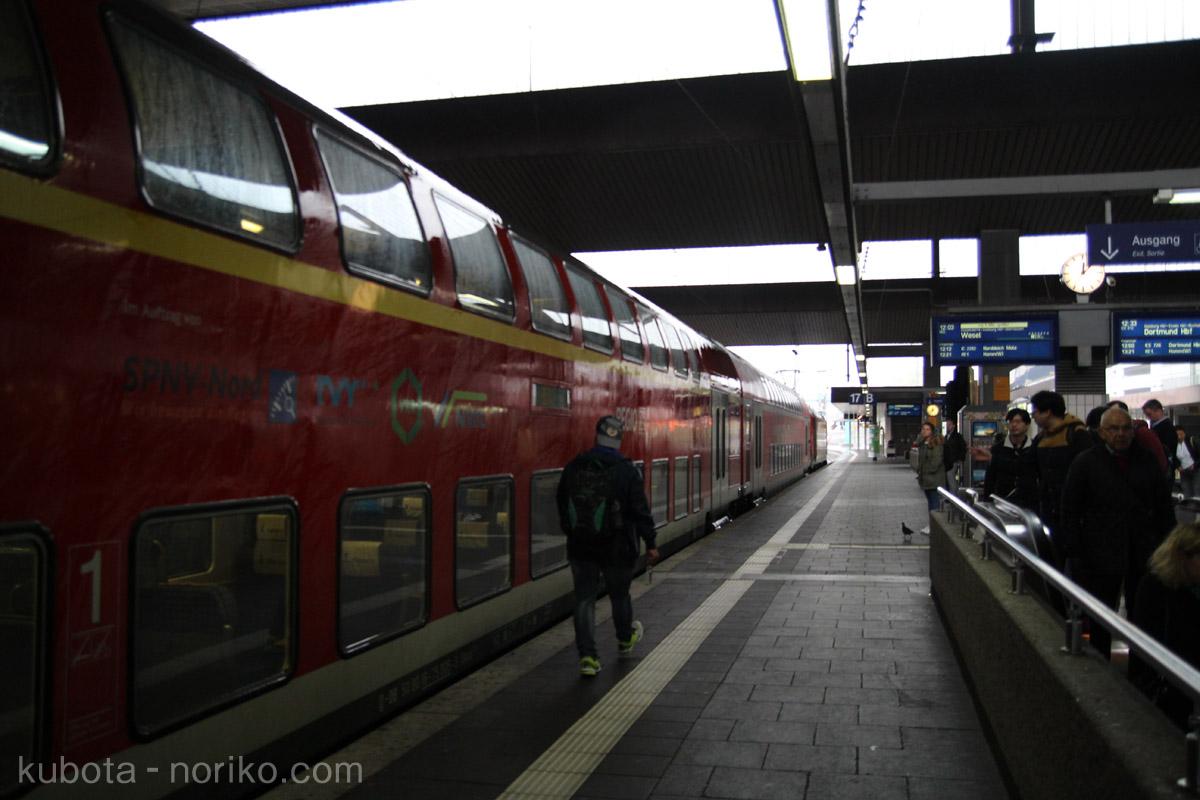 ミュンスターいき電車