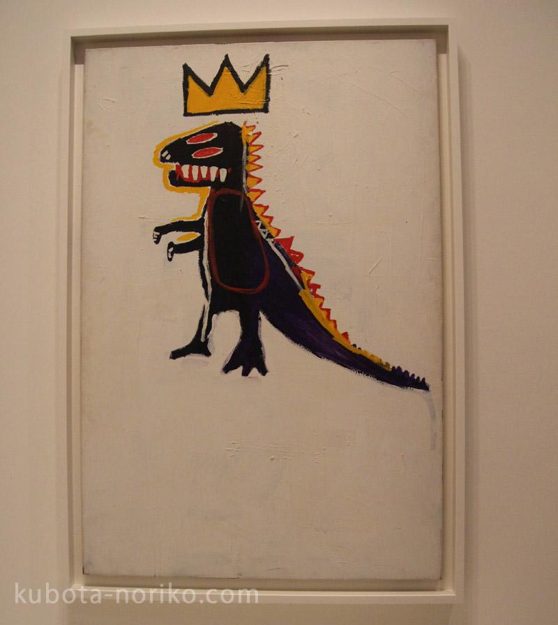 ルイ・ヴィトン美術館 バスキア展 王冠をかぶった恐竜